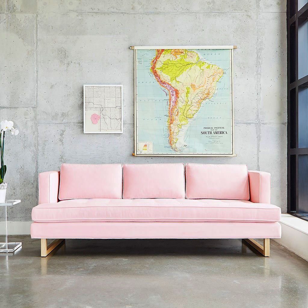 Lounge Designer Furniture: Interior Design: Blush Pink Accent Pieces